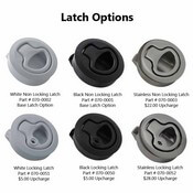 Wide Variety of Latch Options Available