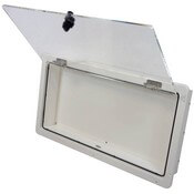 Helm Electronics Storage Box - Door Holds Open with Friction Hinges