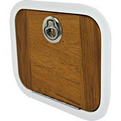 Aluminum Framed Teak Boat Door