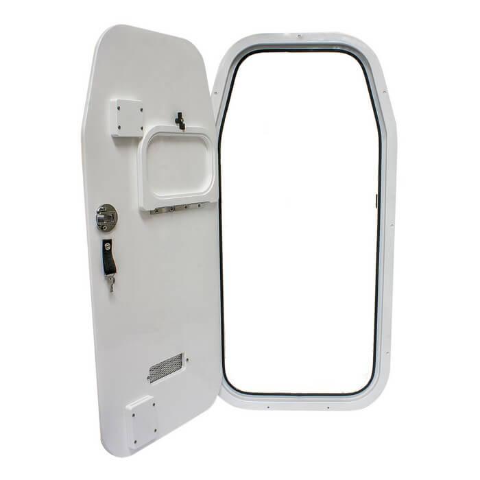Teak Isle Sea Fox Side Console Door With Trash Insert