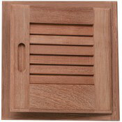 "Teak 12""x12"" Louvered Door and Frame"