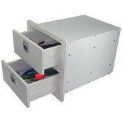 Two Drawer Storage Unit - Open