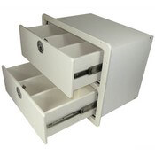 Two Drawer Unit with Removable Dividers - Open