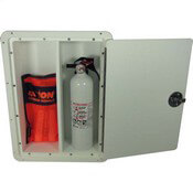 Fire Extinguisher Storage Box - Open