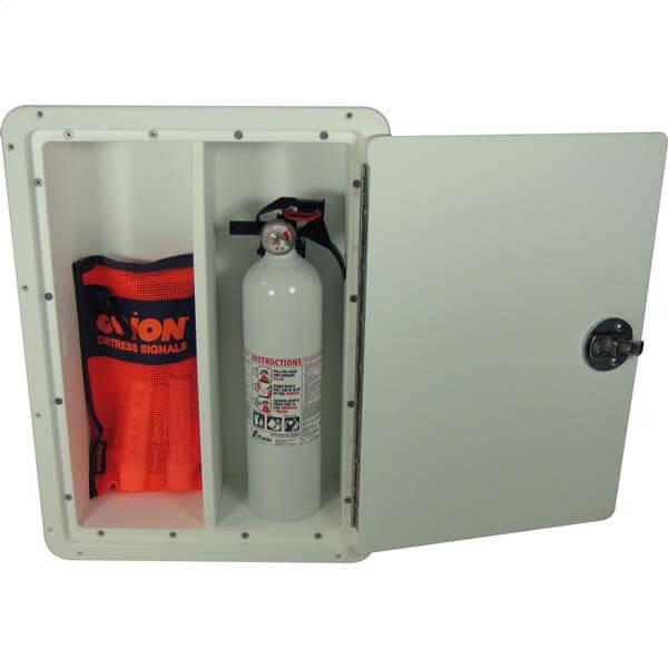 Teak Isle Fire Extinguisher Storage Box 13770 50111