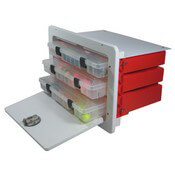 Tackle Box with 3 Plano Trays - Open