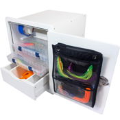 Tackle Unit with Drawer, Trays & Bag- Open