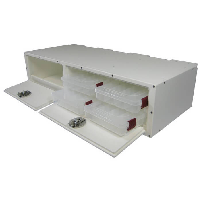 Teak Isle Tackle Storage Center With 4 Plano Trays