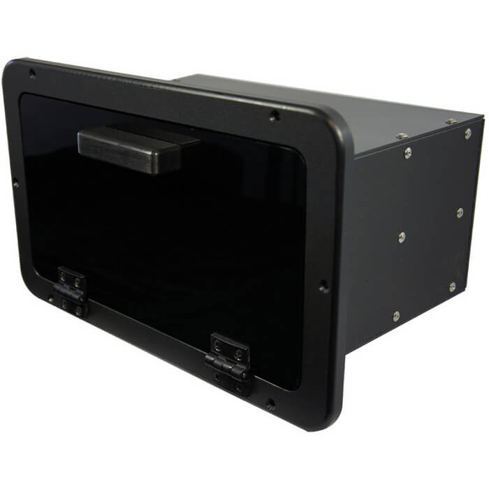 Black 2 Tray Tackle Box Boat Outfitters
