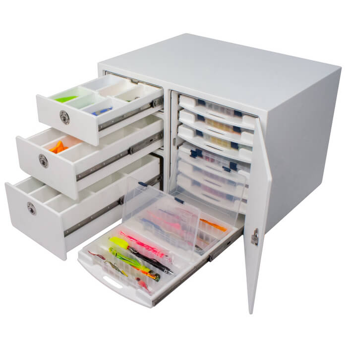 Free Standing Leaning Post Tackle Station With Drawers