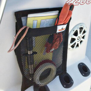 """Tackle Webs Velcro Storage Bag 12"""" x 16"""" - On Center Console"""