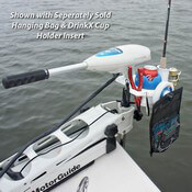 Trolling Motor Clamp-on Drink Holder & Gear Organizer - White - With Optional Accessories