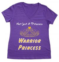 Warrior Princess_Purple-White,Gold,Yellow Text at Bodies Inclusive Clothing