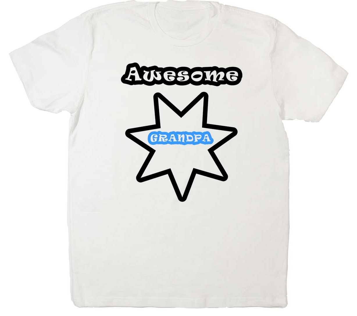 Awesome_Grandpa_WHT-BlackBlue Text at Bodies Inclusive Clothing