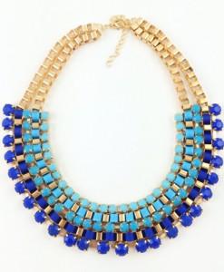 Ogrlica Nia modra