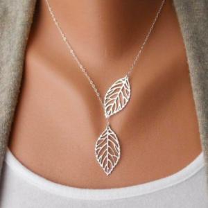 Ogrlica Leaf Silver