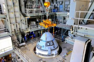 Starliner is sitting atop the United Launch Alliance Atlas V rocket