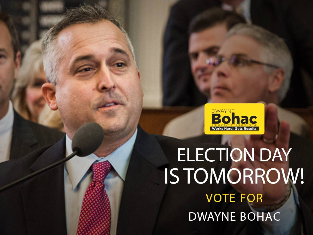 Vote Tomorrow for Dwayne Bohac!
