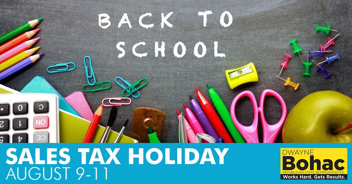 Sales Tax Holiday 2019