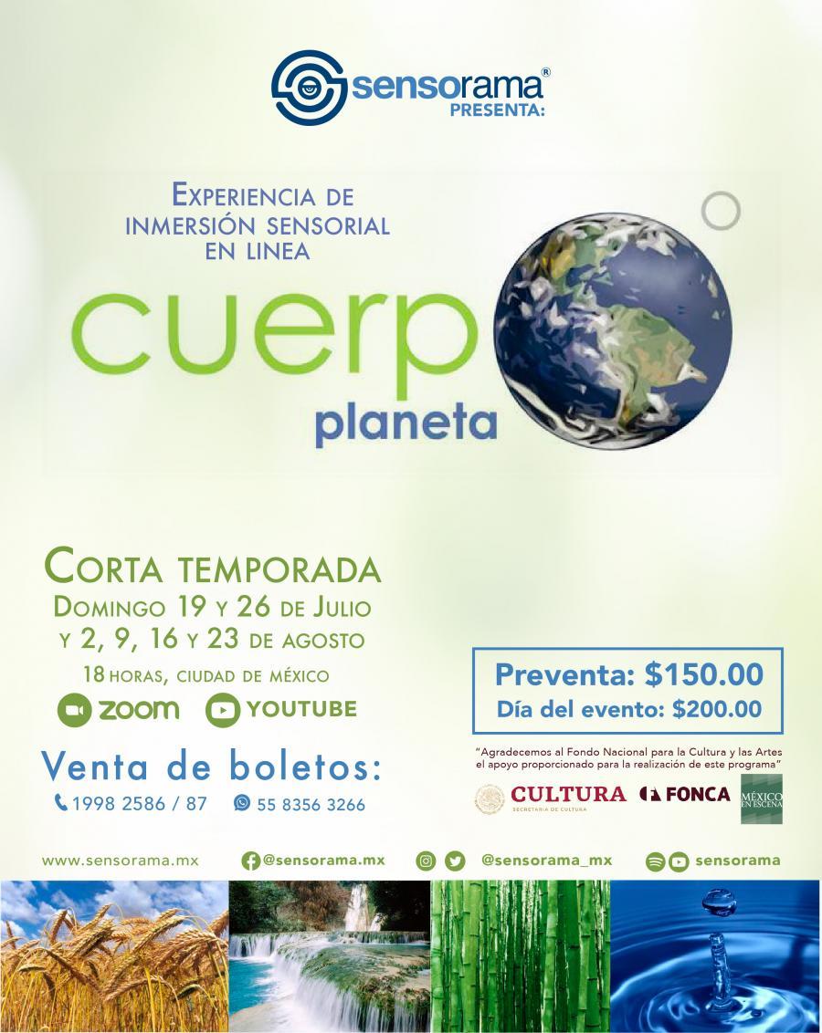 Sensorama | Cuerpo planeta. Experiencia binaural on line - Boletópolis