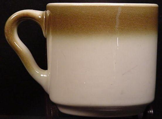 Unique Shape Shaded Syracuse China Coffee Mug Mugs Cups