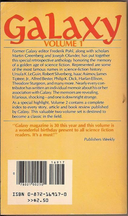 Image 1 of Galaxy Vol 1 edited by Frederik Pohl Martin H Greenberg 1980