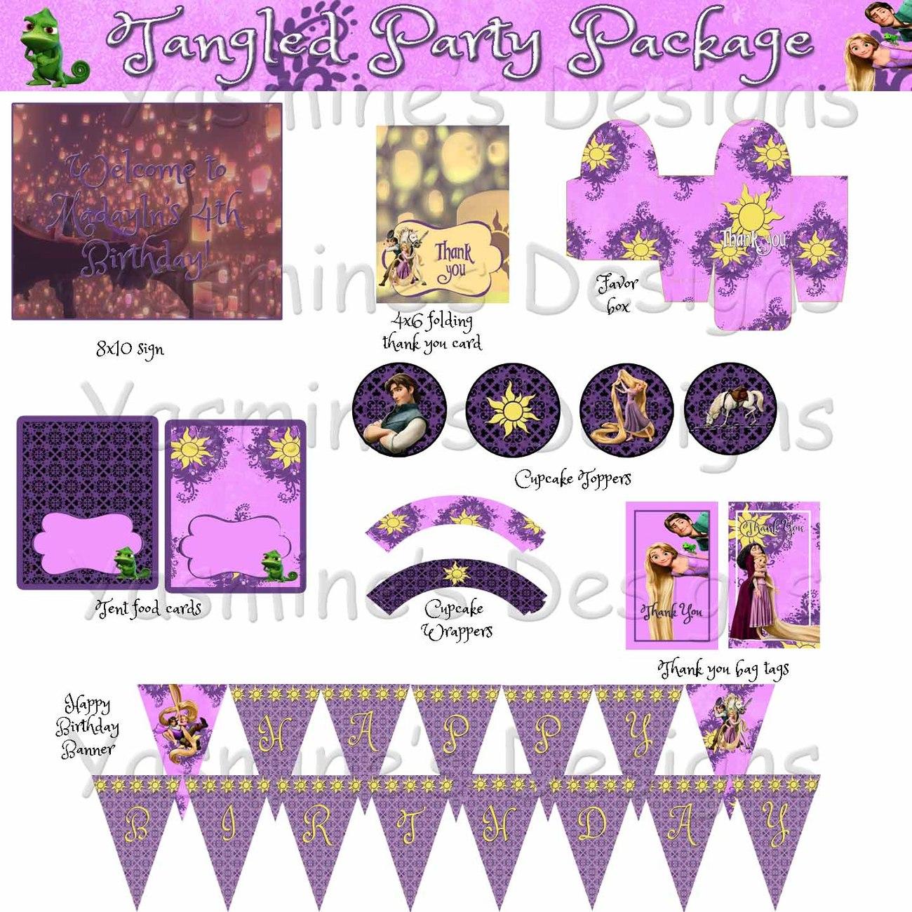 Snap Tangled Invitations Birthday Party Rapunzel Custom Invite ...