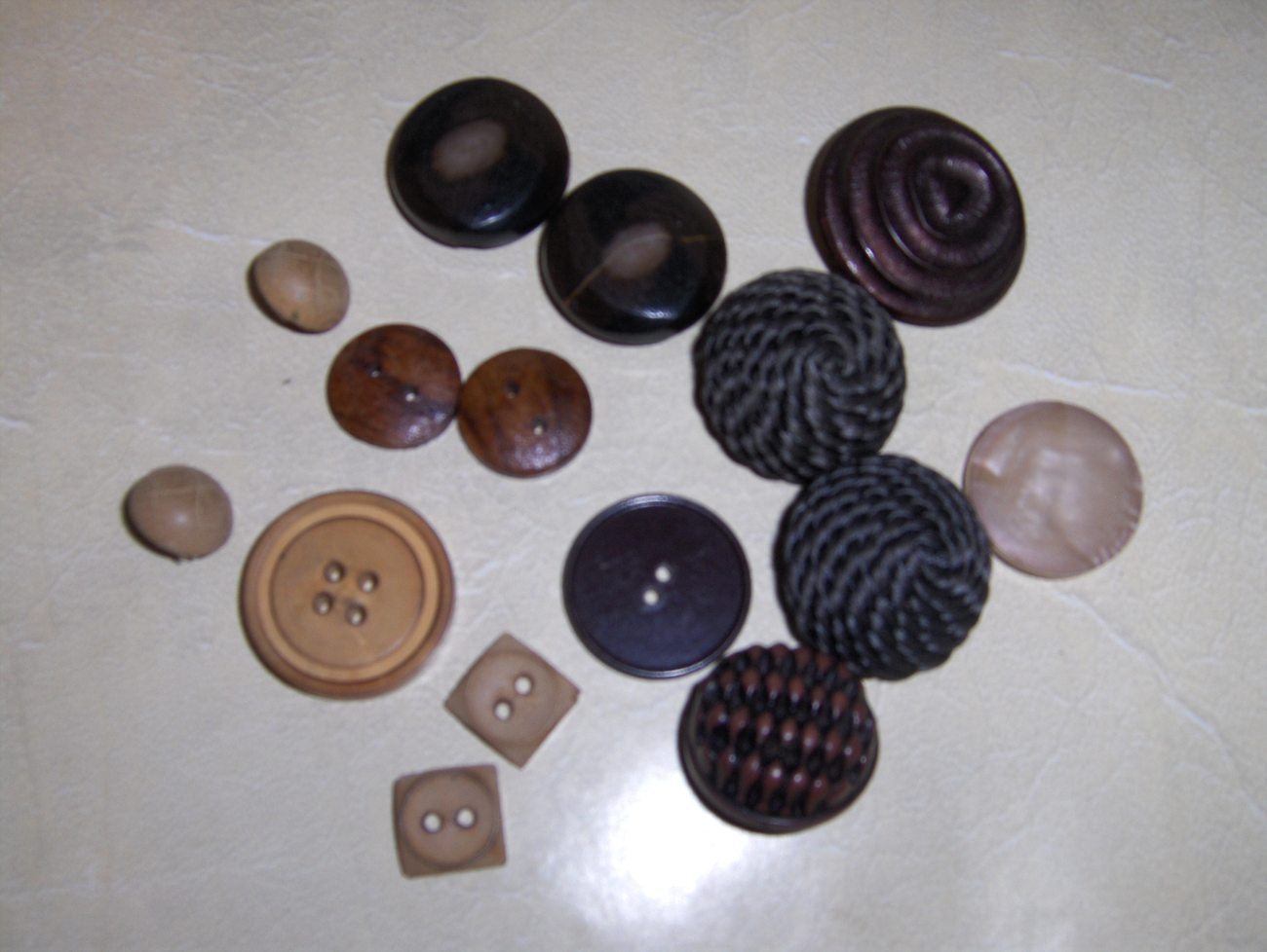 Vintage Brown Wooden Buttons Beautiful