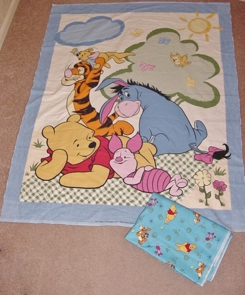 crafts that sell winnie the pooh fabric quilt panel plus 2 yards fabric 1772