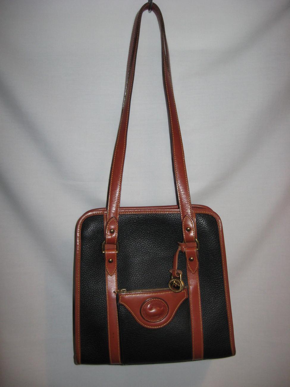 Vintage dooney and bourke handbag shoulder bag purse leather black