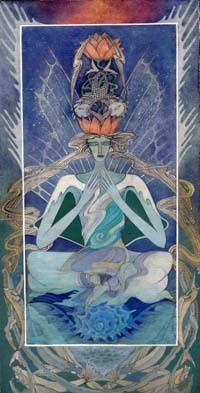 Artistic pisces zodiac sign poster