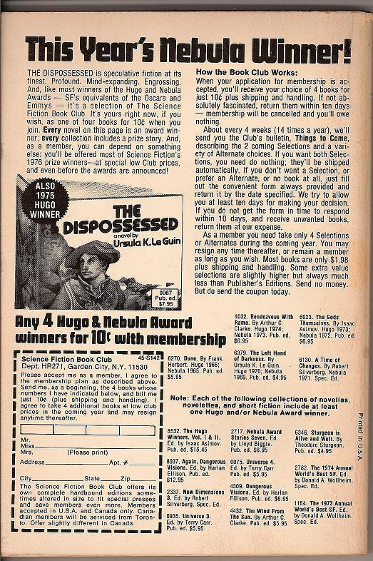 Image 1 of Galaxy Science Fiction Magazine February 1976