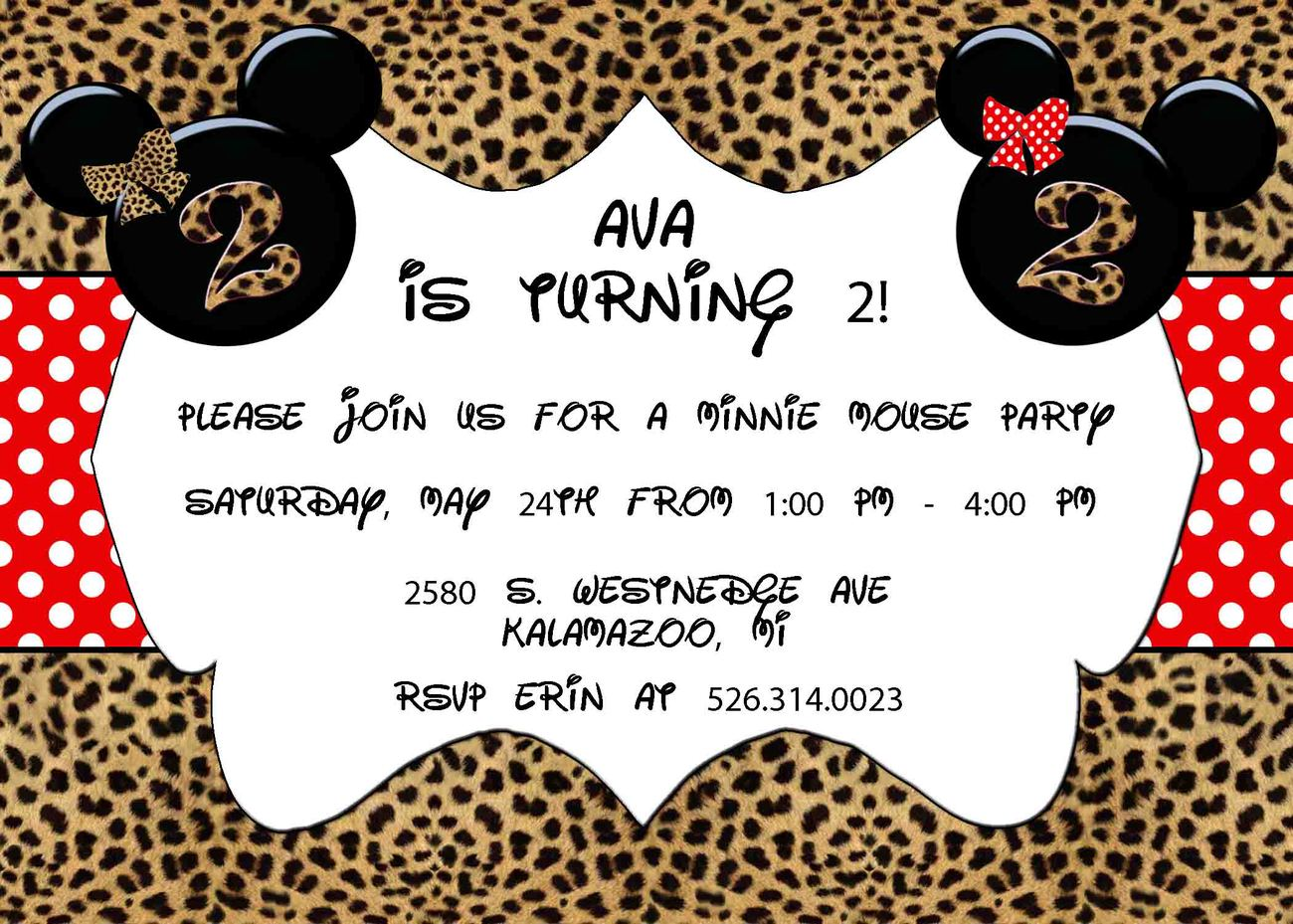 Custom Invitation with adorable invitation layout