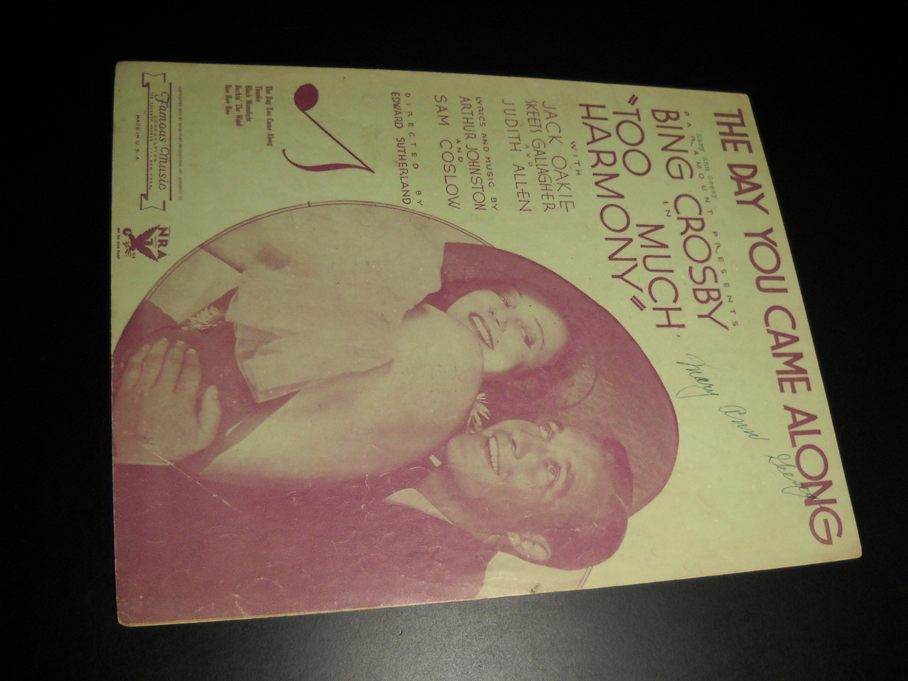 Sheet_music_the_day_you_came_along_too_much_harmony_bing_crosby_1933_famous_music_01