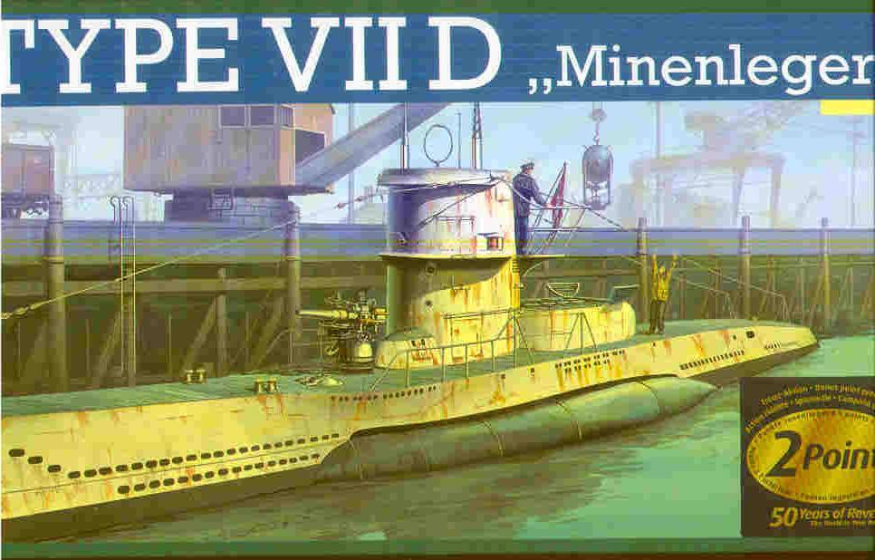 REVELL 1/144 U-BOAT TYPE VIID - GERMAN MINELAYER SUB