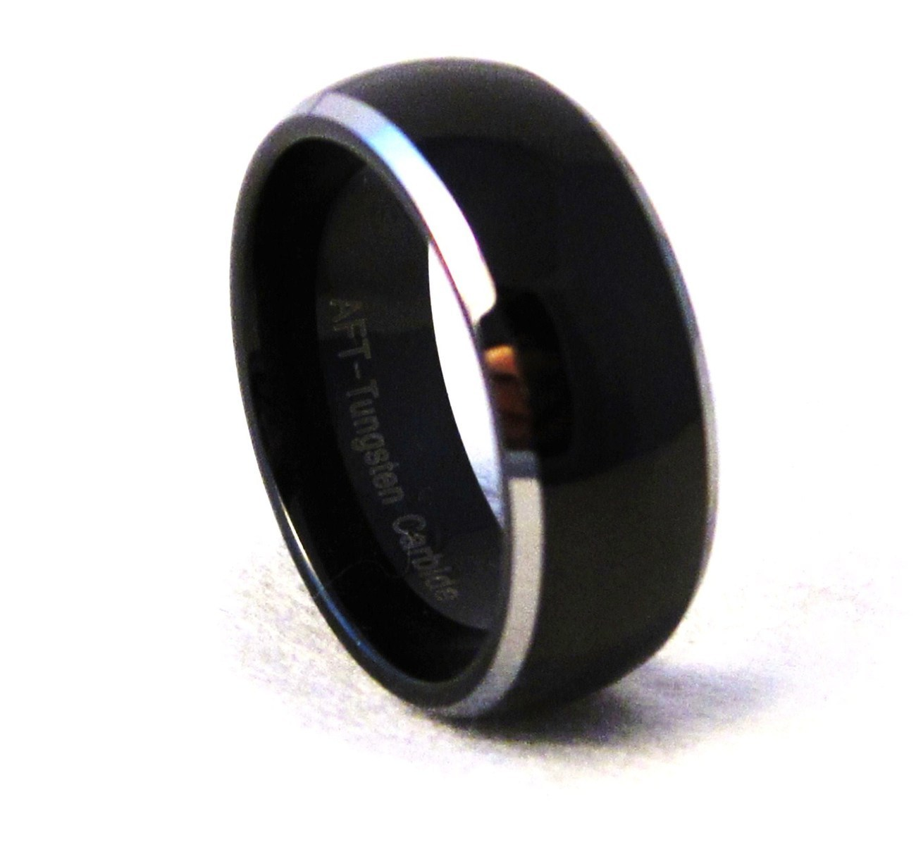 tu6004 size 12 unisex 8mm black tungsten carbide wedding ring rings. Black Bedroom Furniture Sets. Home Design Ideas
