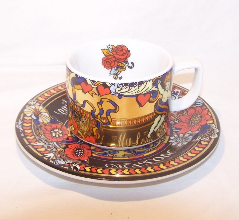 Bopla Magic Mug Cup Saucer Switzerland Porcelain Dishwasher Ovenproof
