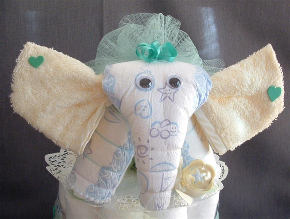 decor and more elephant diaper cake topper baby shower decorations