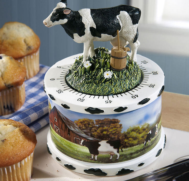 Country Cow Decor Kitchen Timer