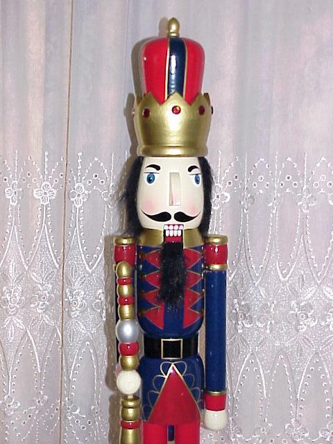 King Nutcracker Red Pants Christmas Decoration 3Ft Tall