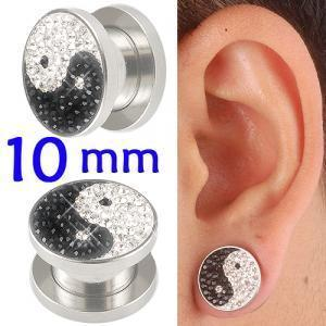crystal tunnel 10mm ear stretcher kit piercing lot BBEA