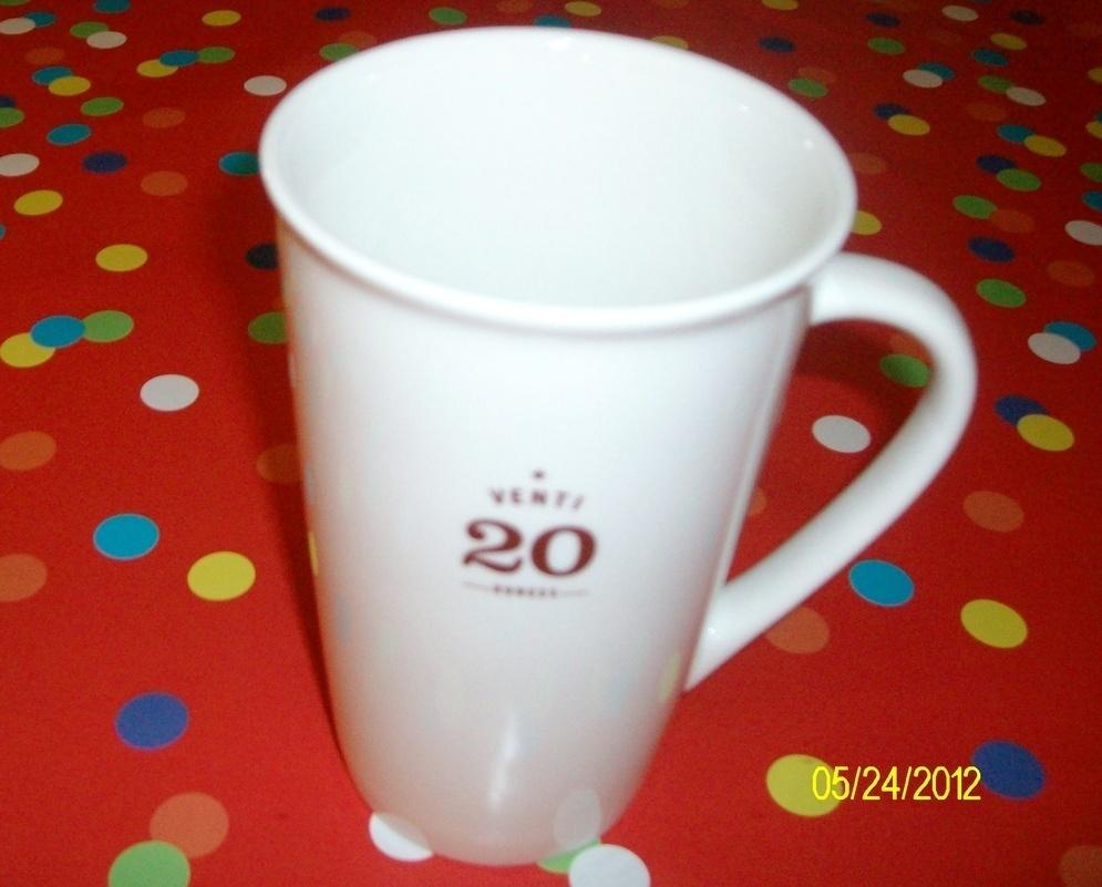 Starbucks Venti Tall 20 Oz.Ceramic Coffee Mug  New