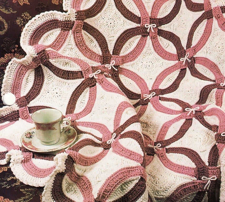 Double Wedding Ring Quilt Afghan Crochet Pattern Annies