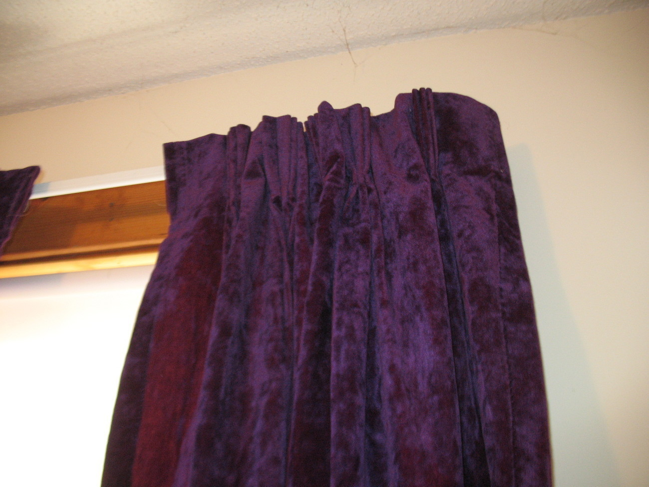 Vintage Dark Purple Crushed Velvet Drapes And 12 Similar Items