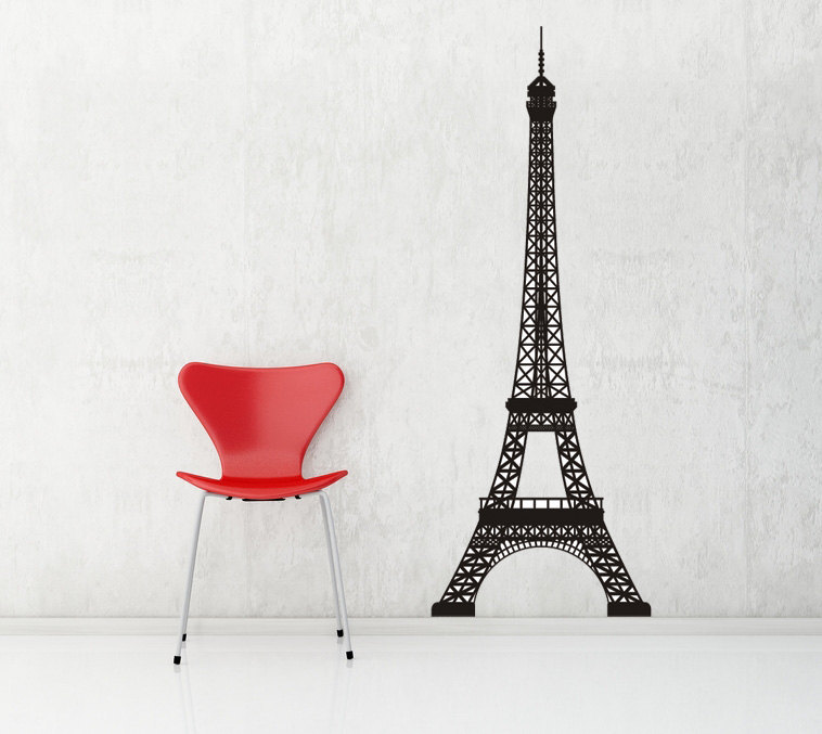 Small Eiffel Tower Wall Decor : Eiffel tower vinyl wall art decal decals stickers