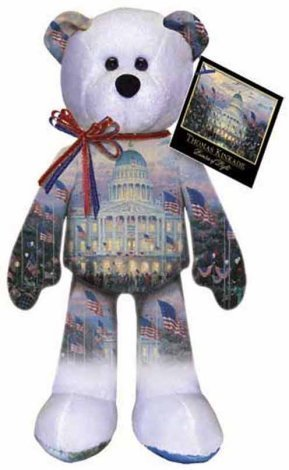 Image 1 of Thomas Kinkade Flags over the Capitol Bear 004 Ltd Treasures