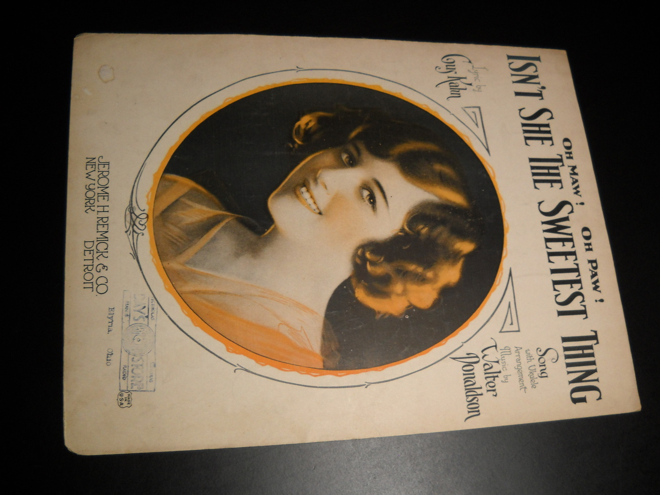 Sheet Music Oh Maw Oh Paw Isn't She The Sweetest Thing Gus Kahn 1925 Donaldson