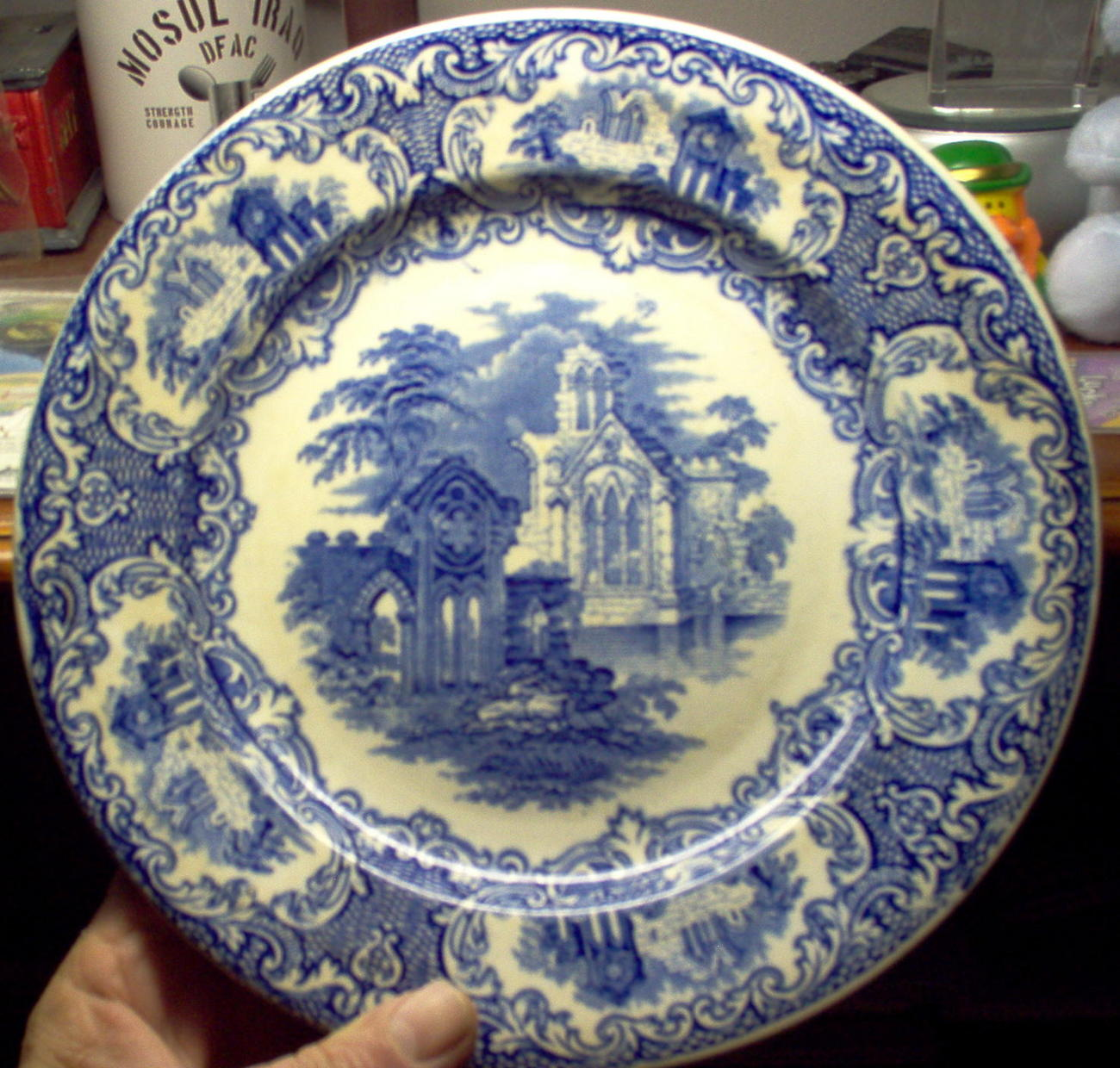 ABBEY by Petrus Regout Maastricht  Holland  Collectable plate approx. 9in.
