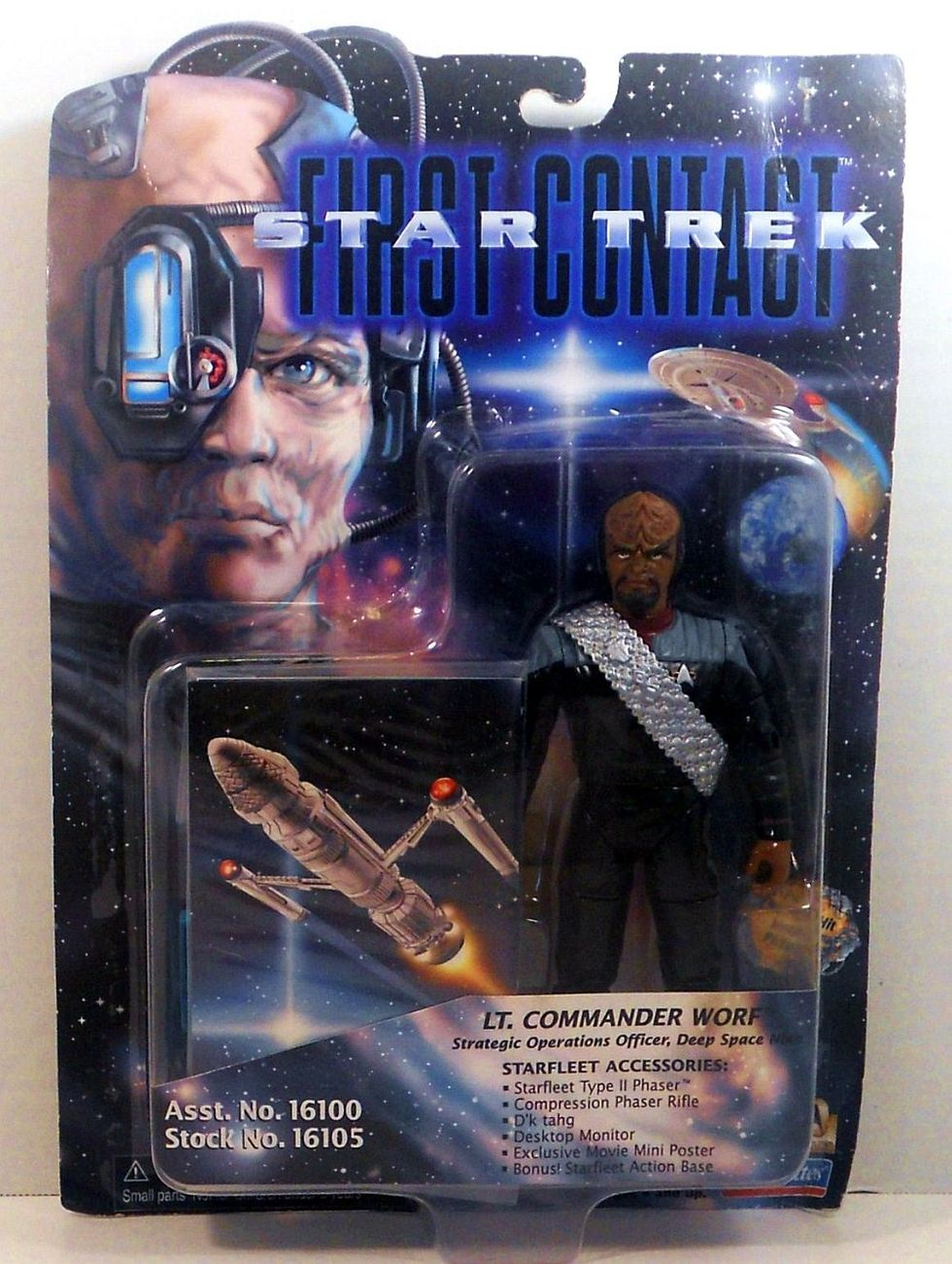 Star Trek First Contact Lt Commander Worf Playmates 1996