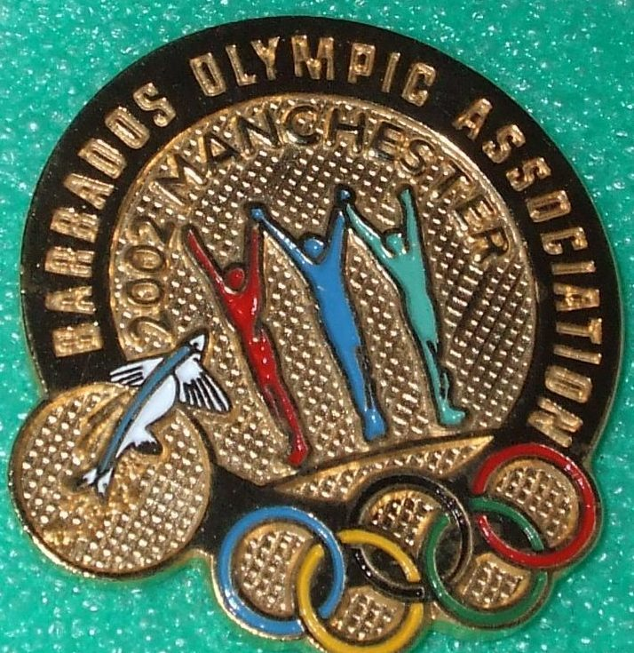 Barbados Olympic Association Manchester 2002 Pin Pinback